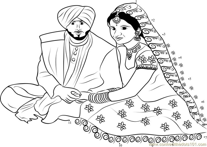 5183 Punjabi Wedding Couple Dot To Dot on List All Fruits