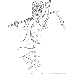 Punjabi Bhangra Dance Dot to Dot Worksheet