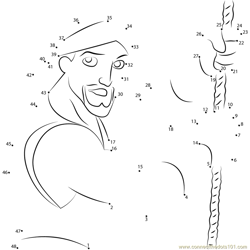 Sinbad with Rope Dot to Dot Worksheet