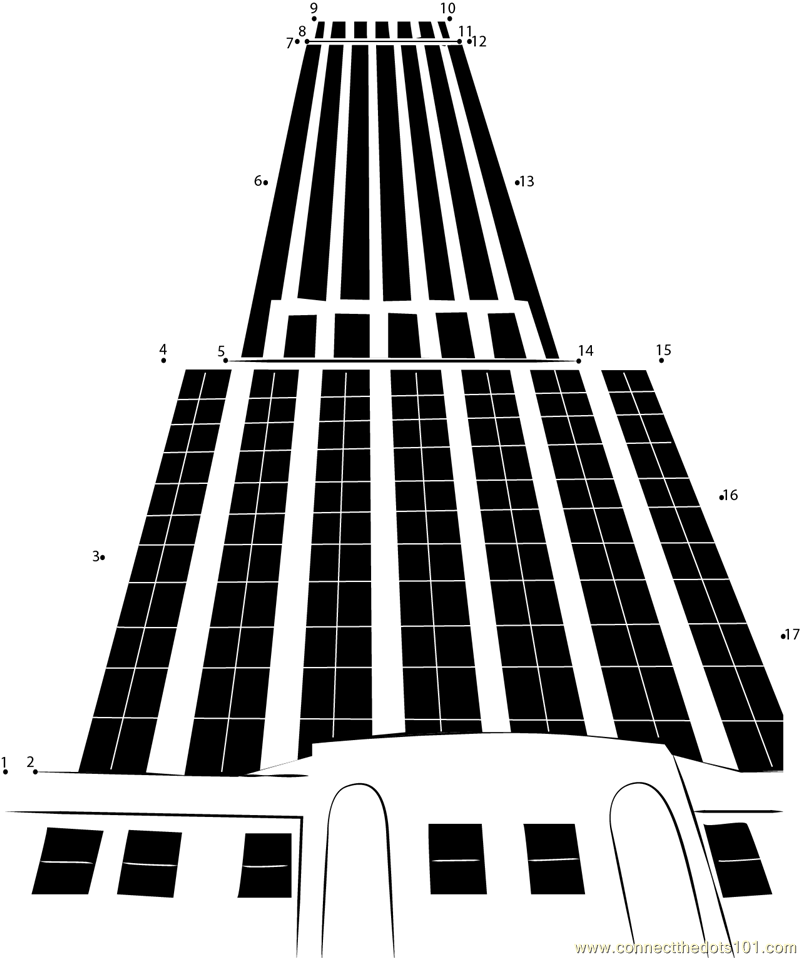 Empire State Building Dot To Dot Printable Worksheet
