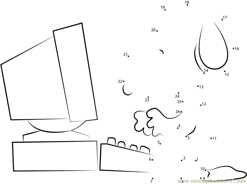 Puter Parts Coloring Pages Democraciaejustica. Snoopy Working On Puter Dot To Printable Worksheet. Worksheet. Puter Worksheet Images At Mspartners.co