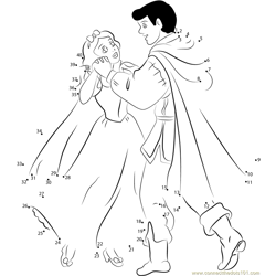Princess Snow White with Prince Dancing