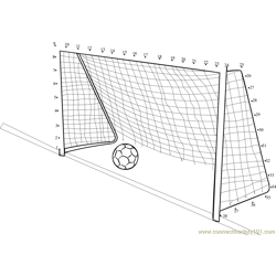 Soccer Kick dot to dot printable worksheet - Connect The Dots