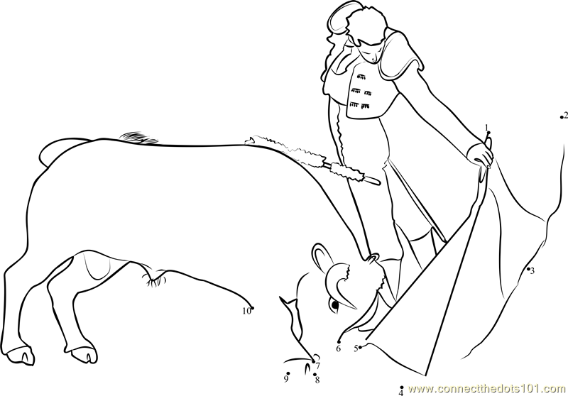 Spain Madrid Bullfight Coloring Page Free Bull Sketch ...