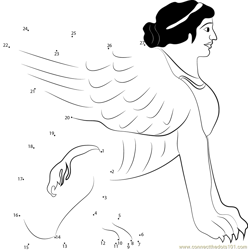 Greek Sphinx Dot to Dot Worksheet