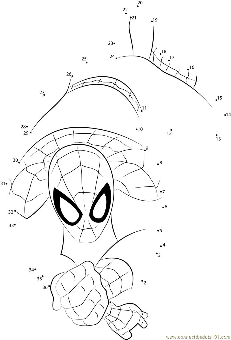 Workbooks spider worksheets : spider Connect The Dots printable worksheets