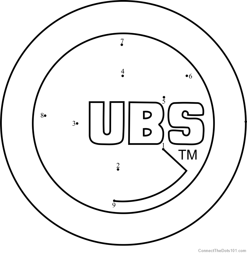 graphic relating to Printable Cubs Logo named Chicago Cubs Emblem dot in the direction of dot printable worksheet - Talk