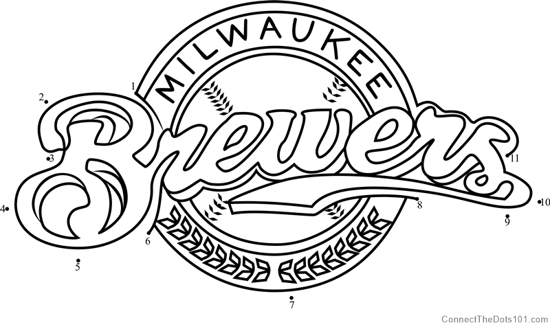 image about Printable Brewers Schedule titled Milwaukee Brewers Brand dot in the direction of dot printable worksheet