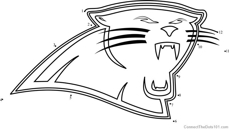 image relating to Carolina Panthers Printable Logo named Carolina Panthers Brand dot in direction of dot printable worksheet