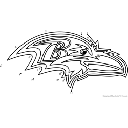 Baltimore Ravens Logo Dot to Dot Worksheet