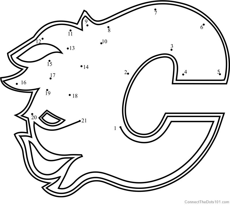 image regarding Printable Flames identified as Calgary Flames Brand dot in direction of dot printable worksheet - Communicate