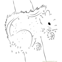 Squirrel Pose by Fantastic Fennec Dot to Dot Worksheet