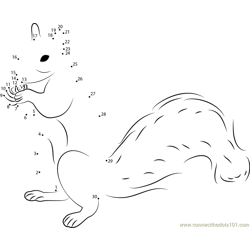 Squirrel Up Dot to Dot Worksheet
