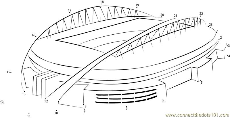 Sydney Olympic Stadium Dot To Dot Printable Worksheet