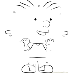 Stanley Smiling Dot to Dot Worksheet