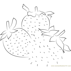 Fresh Strawberry Dot to Dot Worksheet