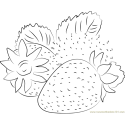 Juicy Strawberry Dot to Dot Worksheet