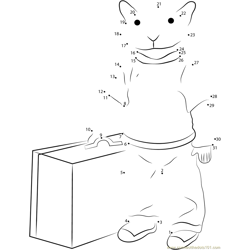 Stuart Little with Suitcase Dot to Dot Worksheet