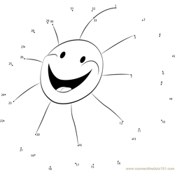 Smile Sun Shine Dot to Dot Worksheet
