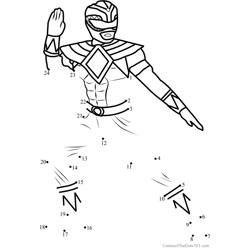 Power Ranger Green Dot to Dot Worksheet
