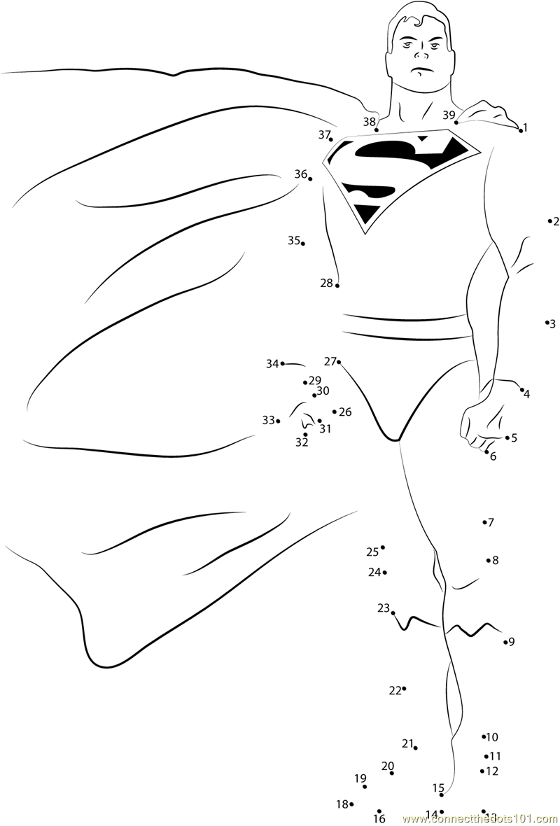 Alex Ross Superman Dot To Printable Worksheet