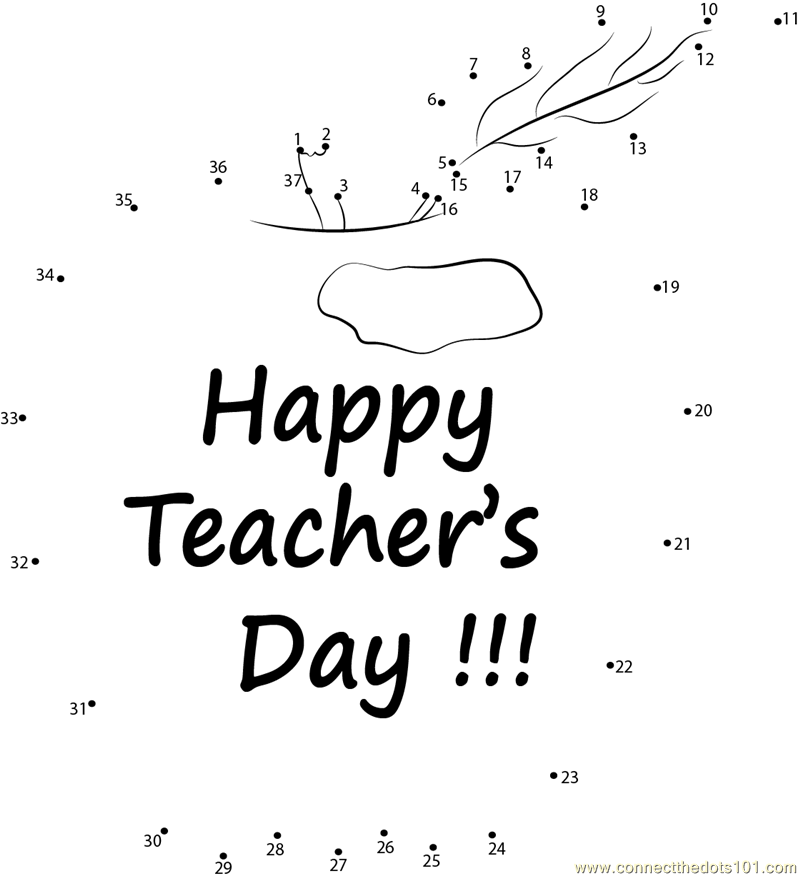 Happy teacher appreciation dot to dot printable worksheet happy teacher appreciation connect the dots for kids sciox Images