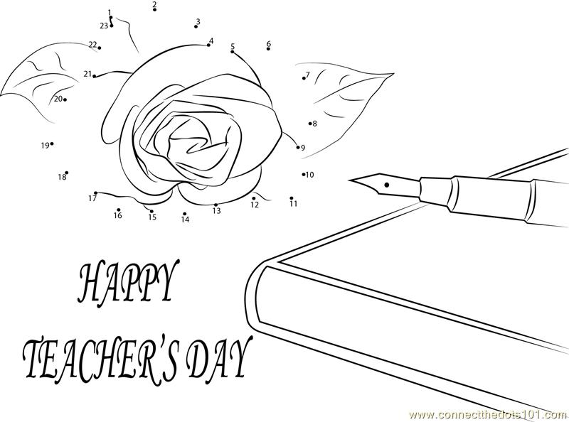 Wishing U Happy Teachers Day dot to dot Printable Worksheet