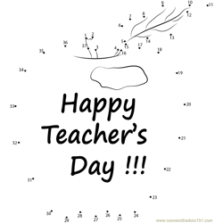 Happy Teacher Appreciation Dot to Dot Worksheet