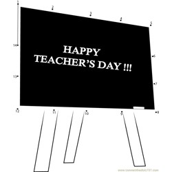 Heart Touching Teachers Day Dot to Dot Worksheet