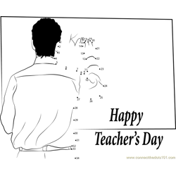 Teacher Day Message Dot to Dot Worksheet