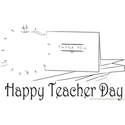 Teacher Day Thank You Dot to Dot Worksheet