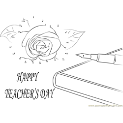 Wishing U Happy Teachers Day Dot to Dot Worksheet