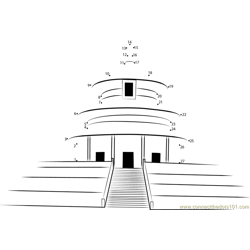 Temple of Heaven Dot to Dot Worksheet