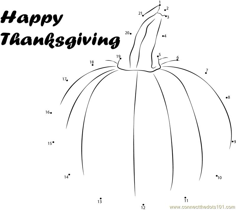 Celebrate Thanksgiving Day dot to dot printable worksheet ...