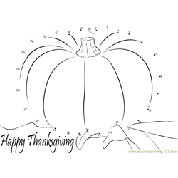 Events Happy Thanksgiving Day Dot to Dot Worksheet