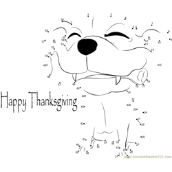 Free Happy Holiday Thanksgiving Day Dot to Dot Worksheet