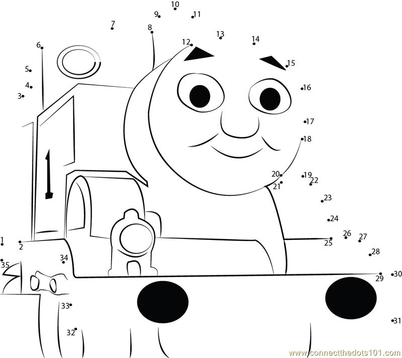 photograph relating to Thomas the Train Face Printable named Lovable Thomas dot in direction of dot printable worksheet - Talk The