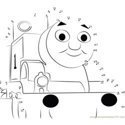 Adorable Thomas Dot to Dot Worksheet