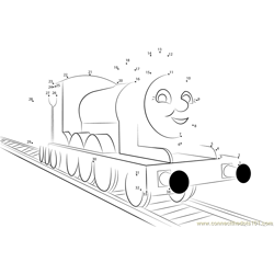 James the Red Engine Dot to Dot Worksheet