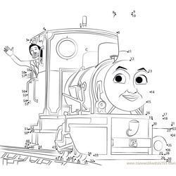 Thomas Friends Dot to Dot Worksheet