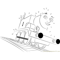 Thomas Going Dot to Dot Worksheet