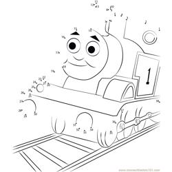Thomas Tank Engine Dot to Dot Worksheet