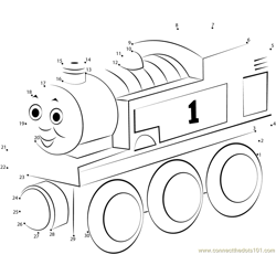 Thomas Dot to Dot Worksheet
