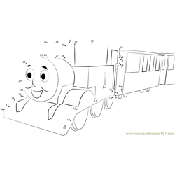 Thomas the Blue Engine Dot to Dot Worksheet