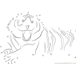 Wildlife of the Tiger Dot to Dot Worksheet