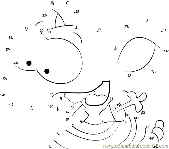 Toopy running dot to dot printable worksheet connect the for Toopy and binoo coloring pages