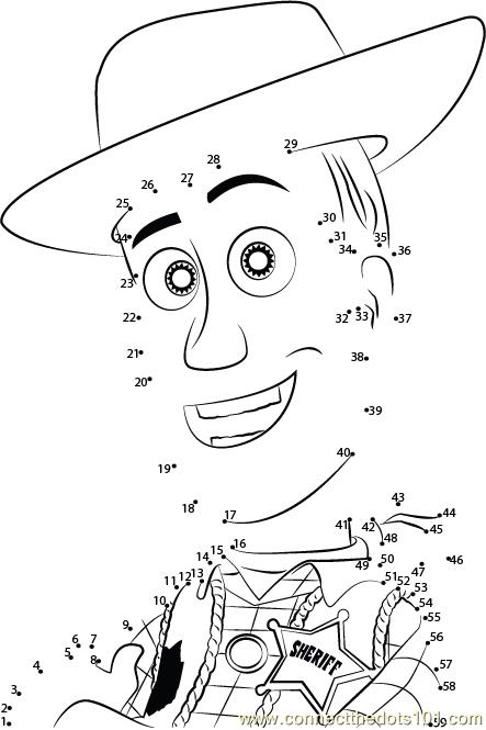Toy Story Trusted One dot to dot printable worksheet - Connect The ...