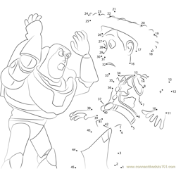 Buzz Lightyear and Sheriff Woody Dot to Dot Worksheet