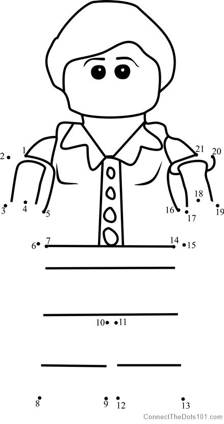 Patty Keys Ninjago dot to dot printable worksheet