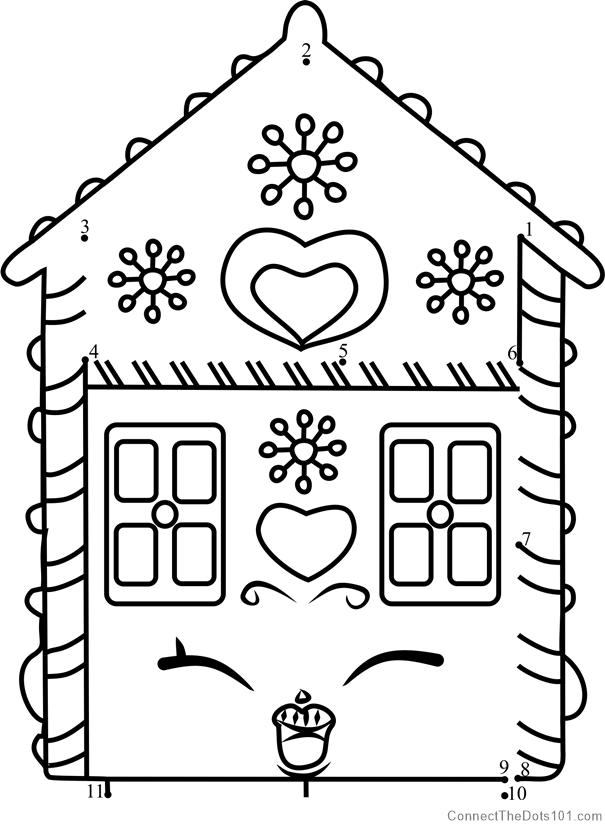 Ginger Fred Shopkins Dot To Dot Printable Worksheet